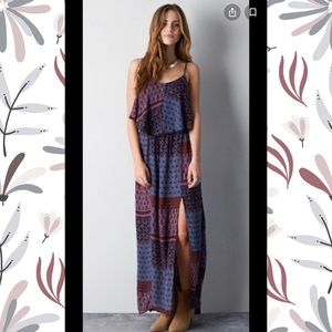 American Eagle   Tiered maxi dress with slit